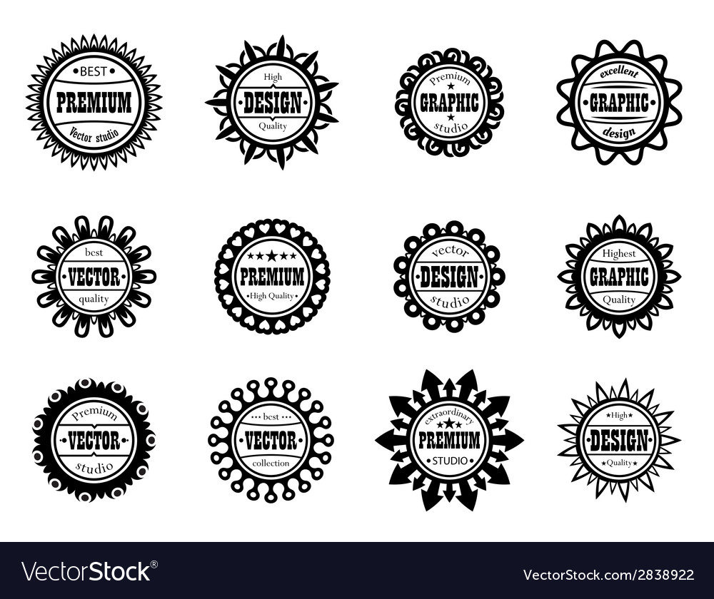 Set award icon for graphic and design studios vector | Price: 1 Credit (USD $1)