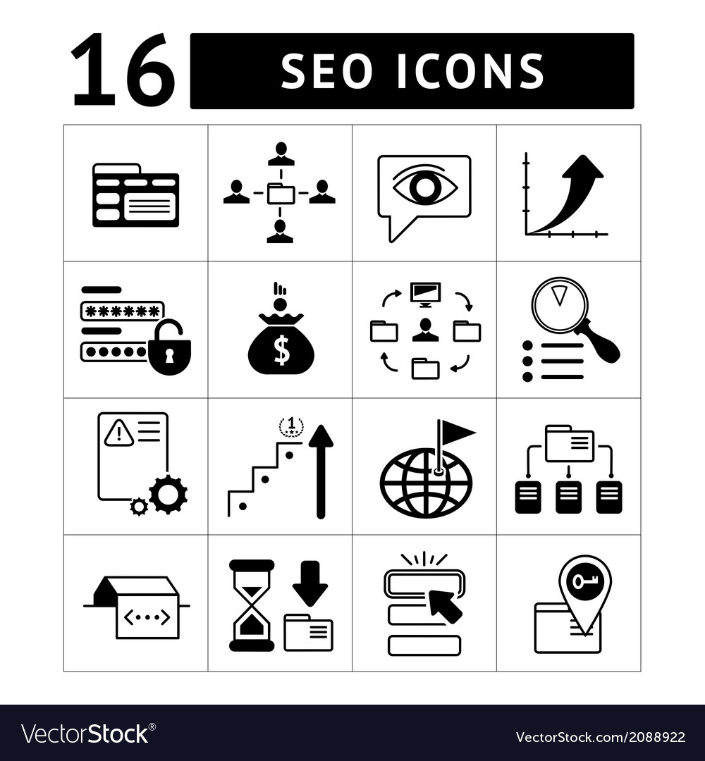 Set of seo web and internet icons vector | Price: 1 Credit (USD $1)