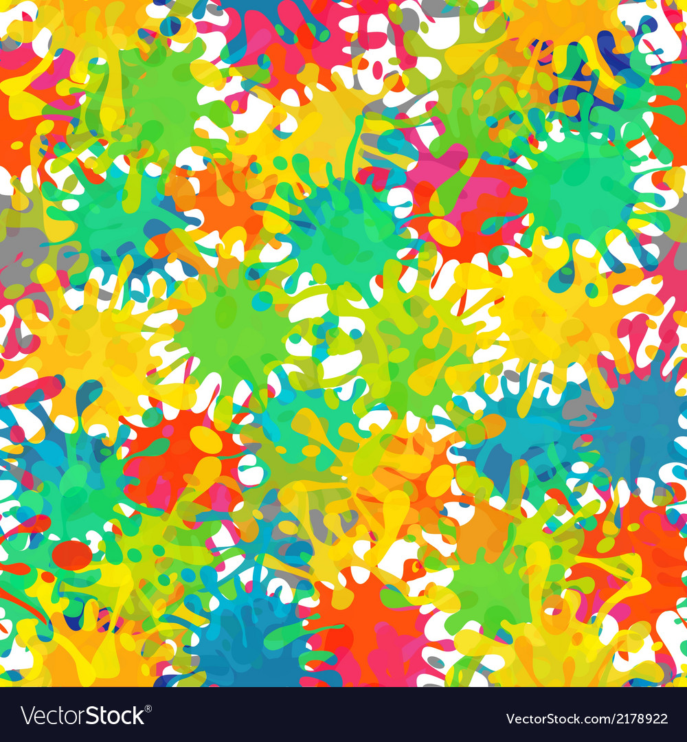 Splash abstract seamless pattern background vector | Price: 1 Credit (USD $1)