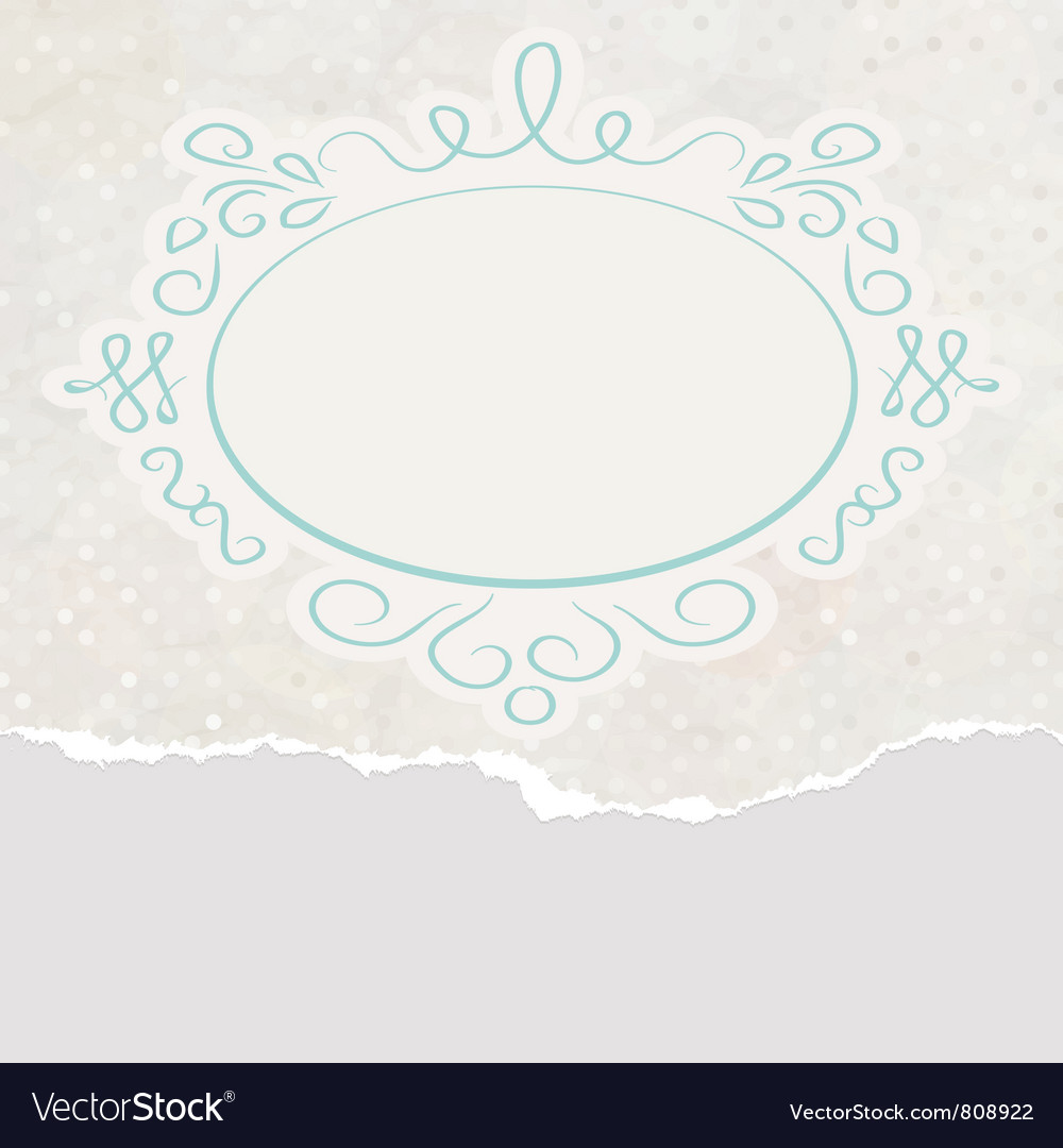 Vintage copyspace card vector | Price: 1 Credit (USD $1)