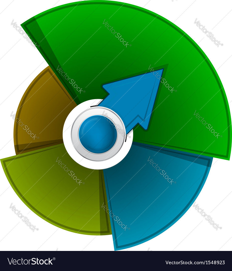Abstract circle background with arrow vector   Price: 1 Credit (USD $1)