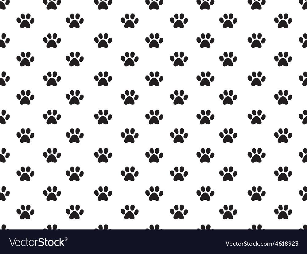 Animal footprint pattern vector | Price: 1 Credit (USD $1)