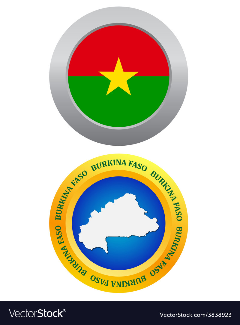 Button as a symbol burkina faso vector | Price: 1 Credit (USD $1)