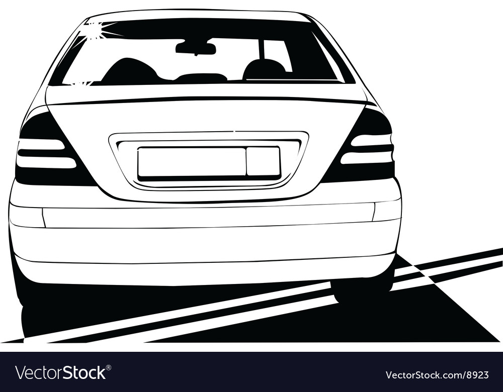 Car on white background vector | Price: 1 Credit (USD $1)