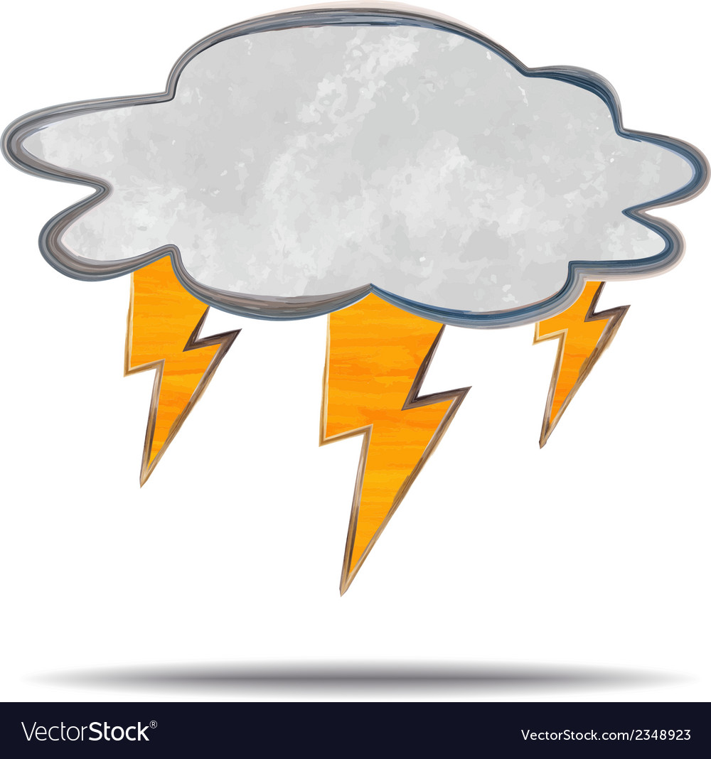 Climate cloud and lightning vector | Price: 1 Credit (USD $1)