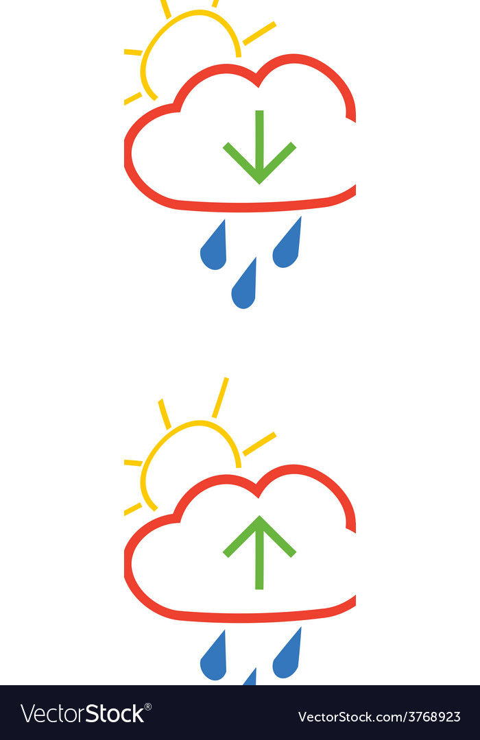 Cloud download and upload icon 19 vector | Price: 1 Credit (USD $1)