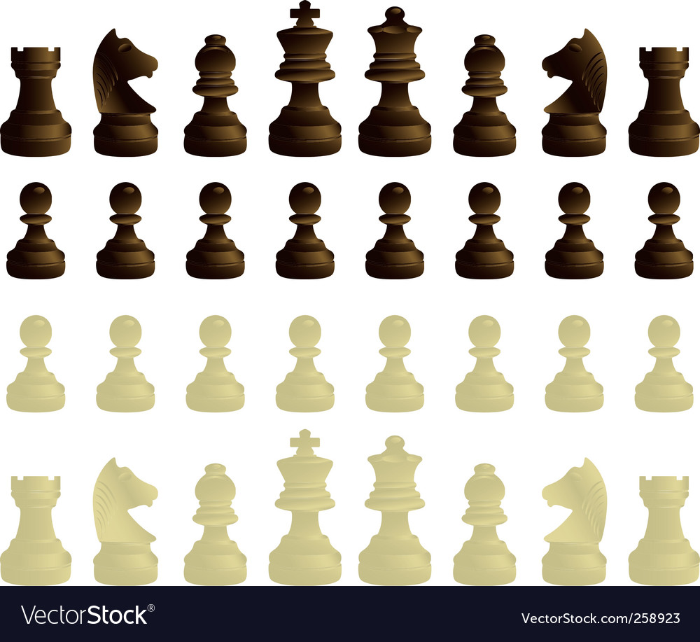 Coloured chessmen vector | Price: 1 Credit (USD $1)