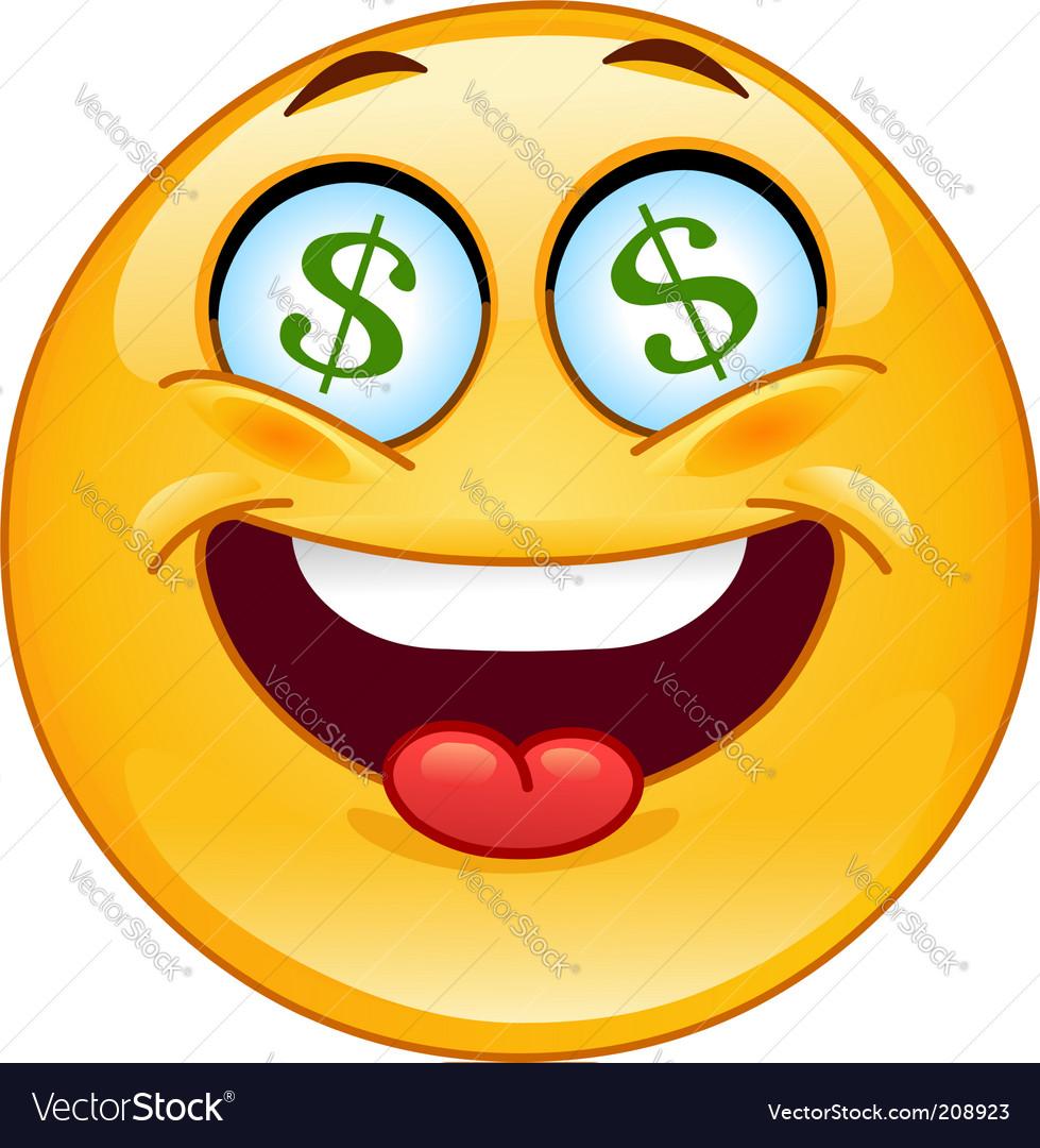 Dollar emoticon vector | Price: 3 Credit (USD $3)