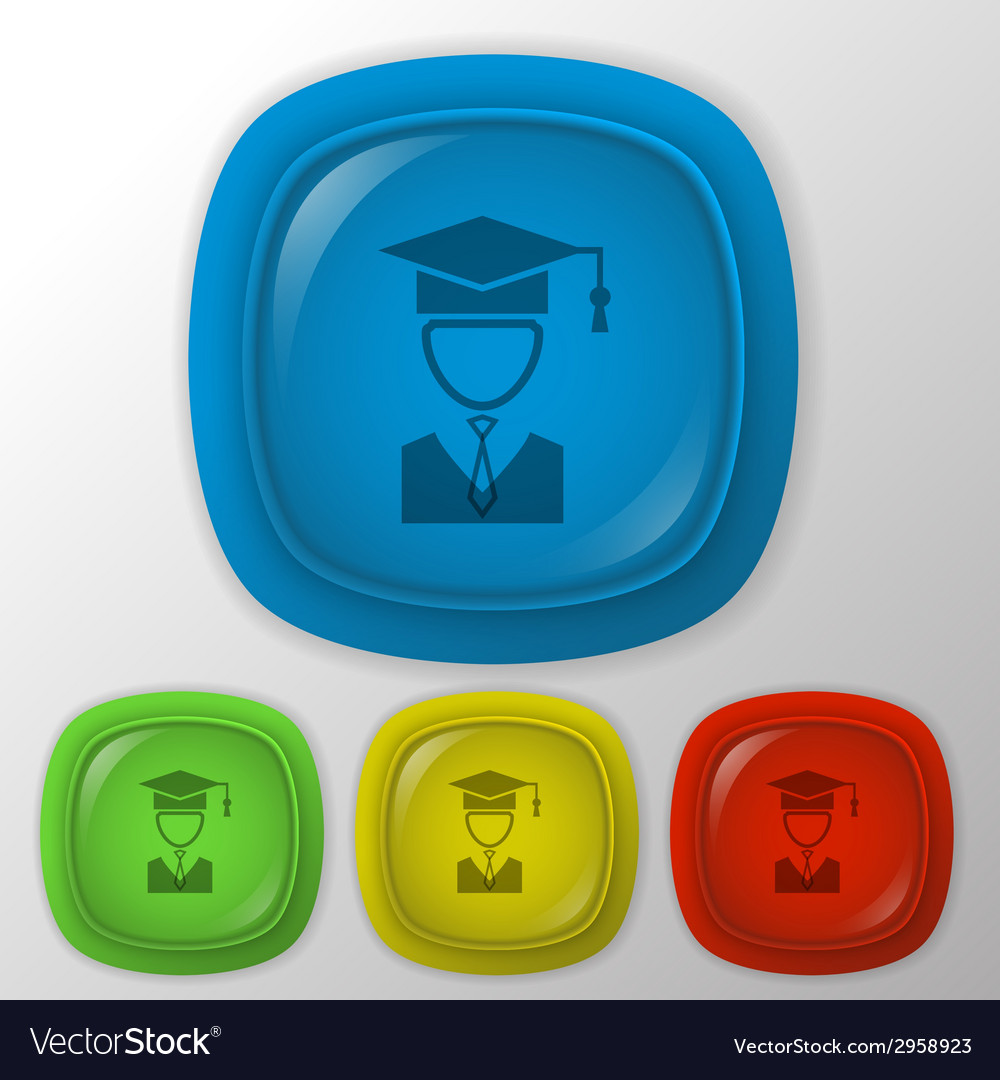 Graduate hat avatar vector | Price: 1 Credit (USD $1)