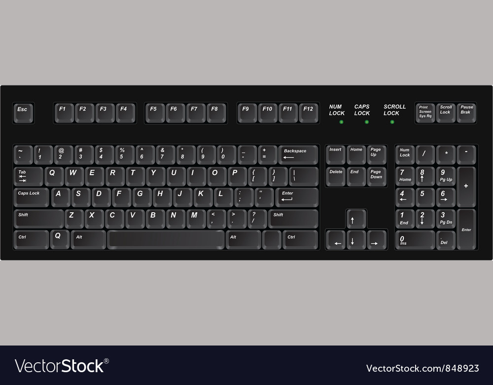 Keyboard black vector | Price: 1 Credit (USD $1)