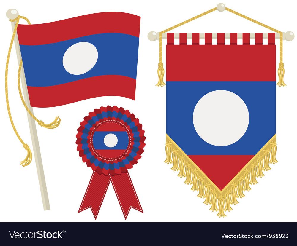 Laos flags vector   Price: 1 Credit (USD $1)