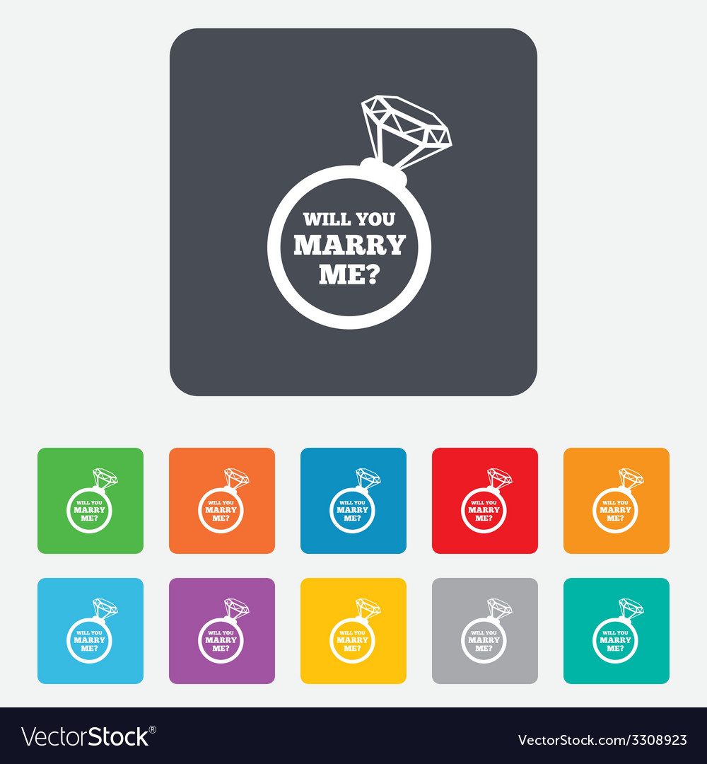 Marry me ring sign icon engagement symbol vector | Price: 1 Credit (USD $1)