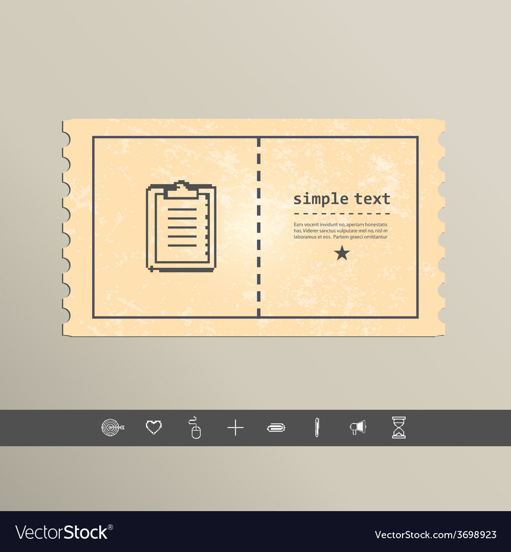 Simple pixel icon paper holder design vector | Price: 1 Credit (USD $1)