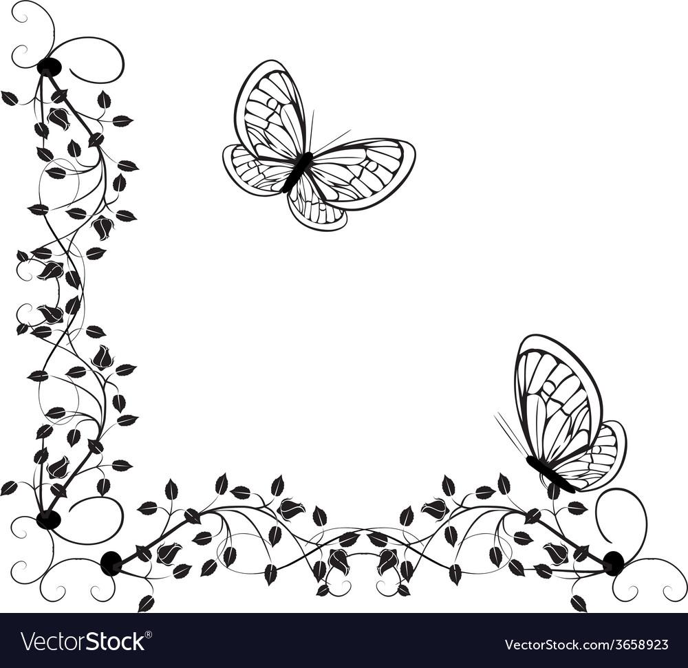 Vintage butterflies 4 vector | Price: 1 Credit (USD $1)