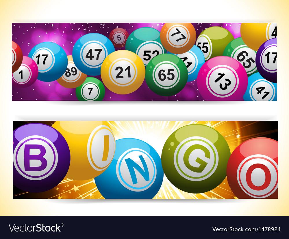 Bingo ball banners vector | Price: 1 Credit (USD $1)