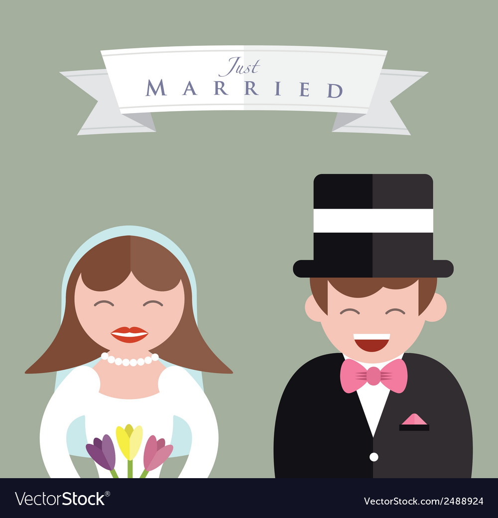 Bride and groom close up vector | Price: 1 Credit (USD $1)
