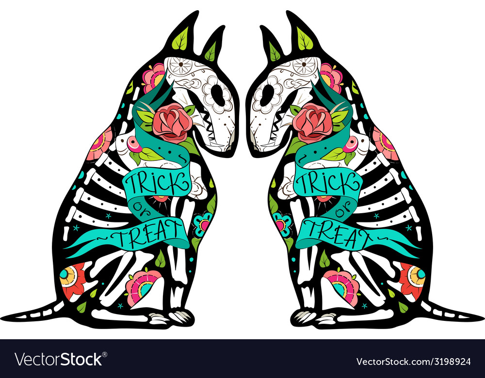 Colorfull bullterriers vector | Price: 3 Credit (USD $3)