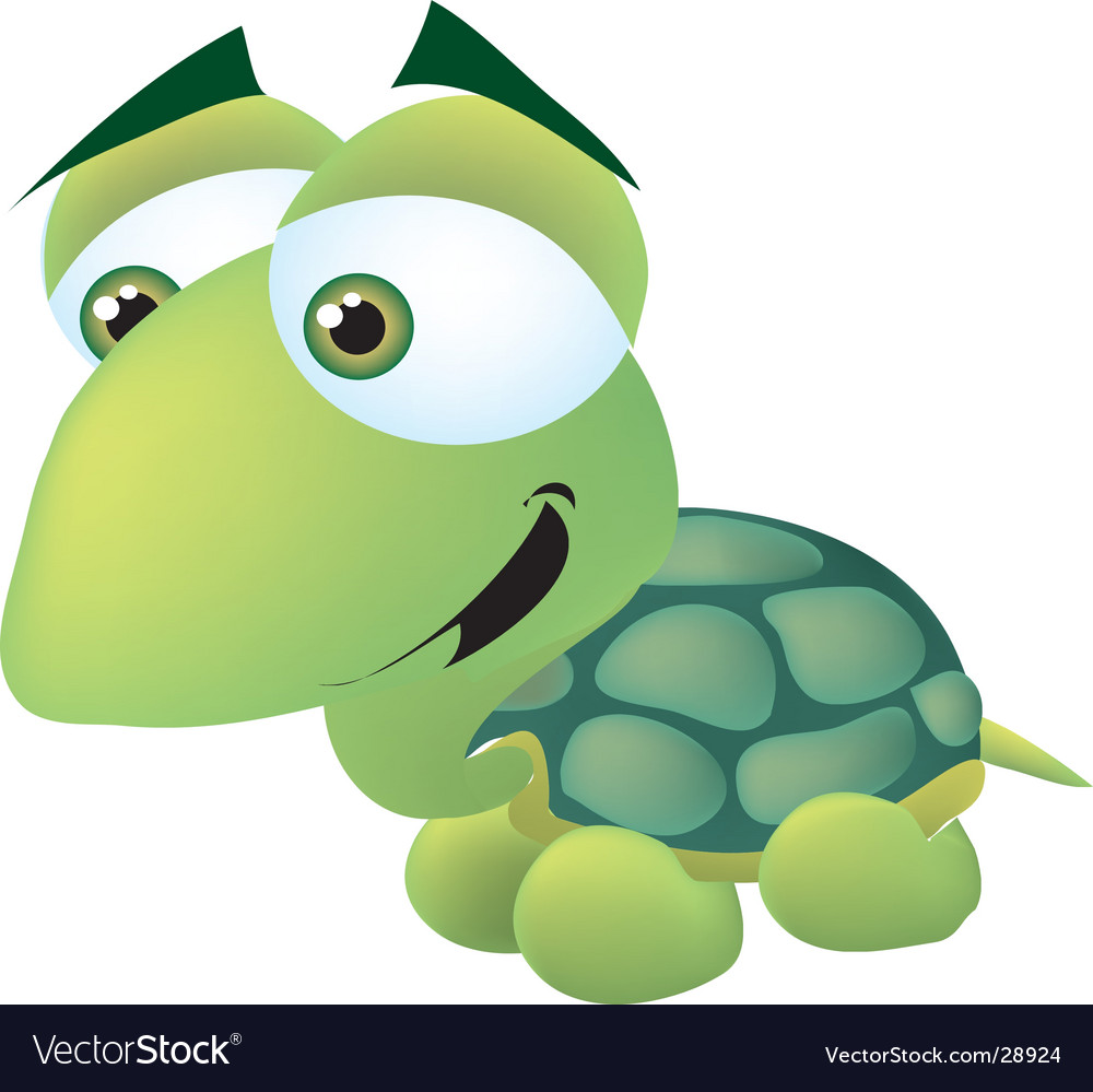 Cute turtle vector | Price:  Credit (USD $)