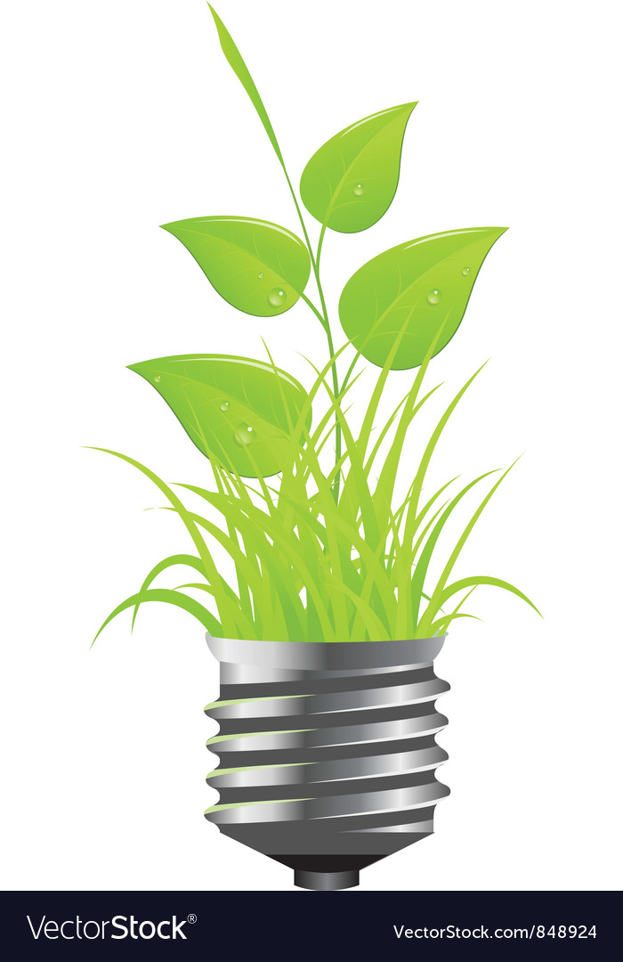 Power plant grass vector | Price: 1 Credit (USD $1)