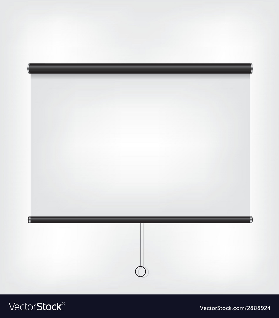 Projector blank screen vector | Price: 1 Credit (USD $1)