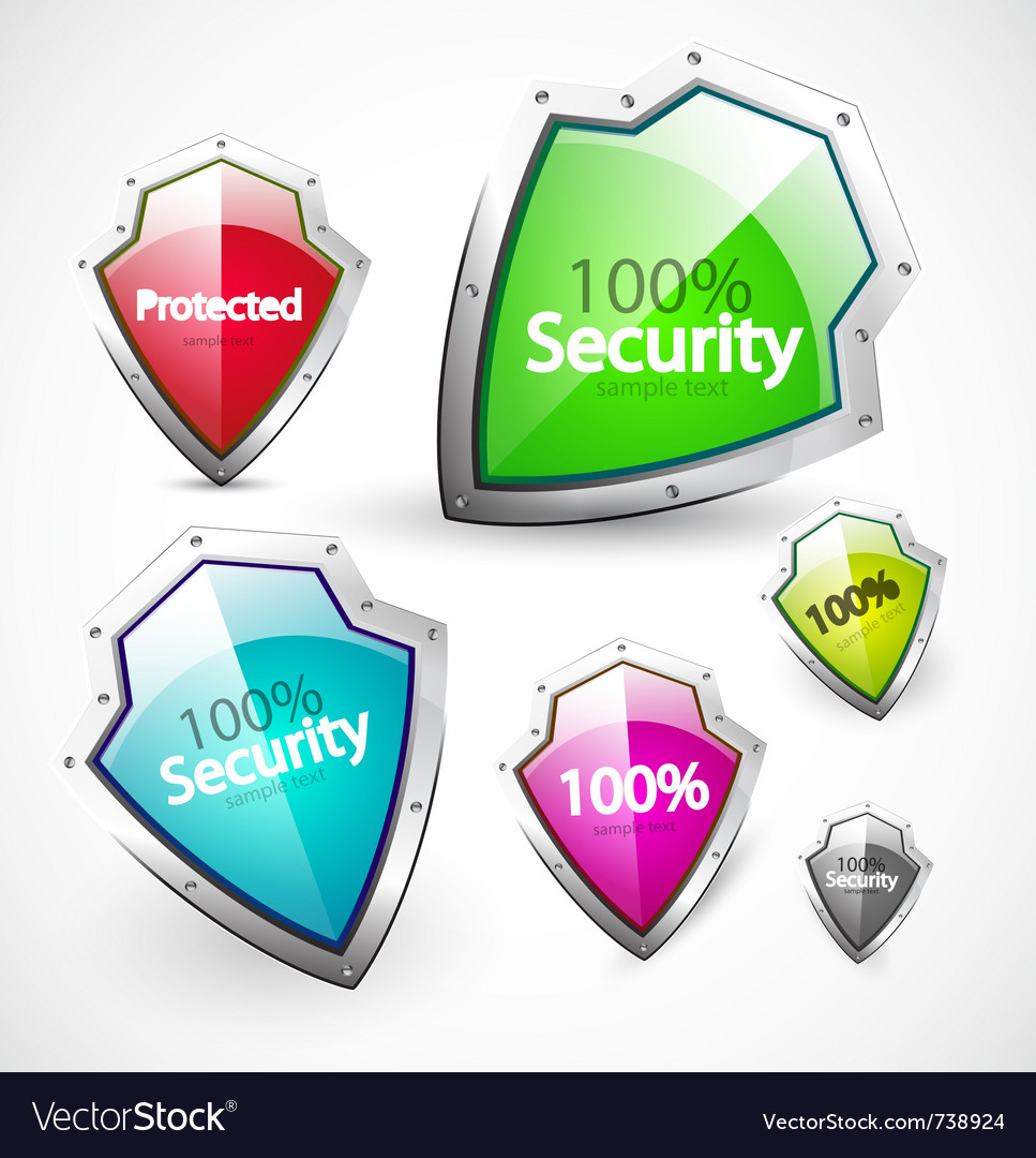Protection and security icons vector | Price: 1 Credit (USD $1)