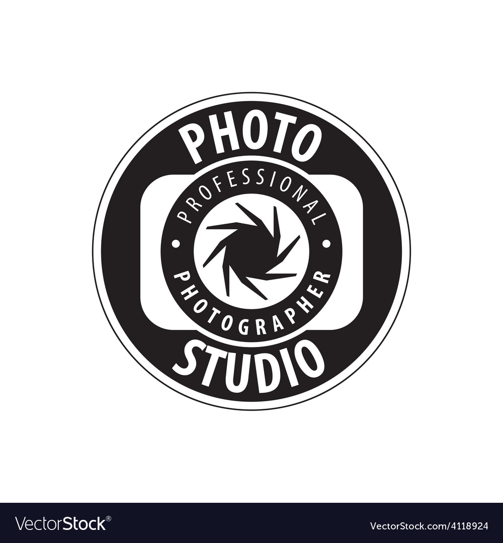 Round logo for studio photography vector | Price: 1 Credit (USD $1)
