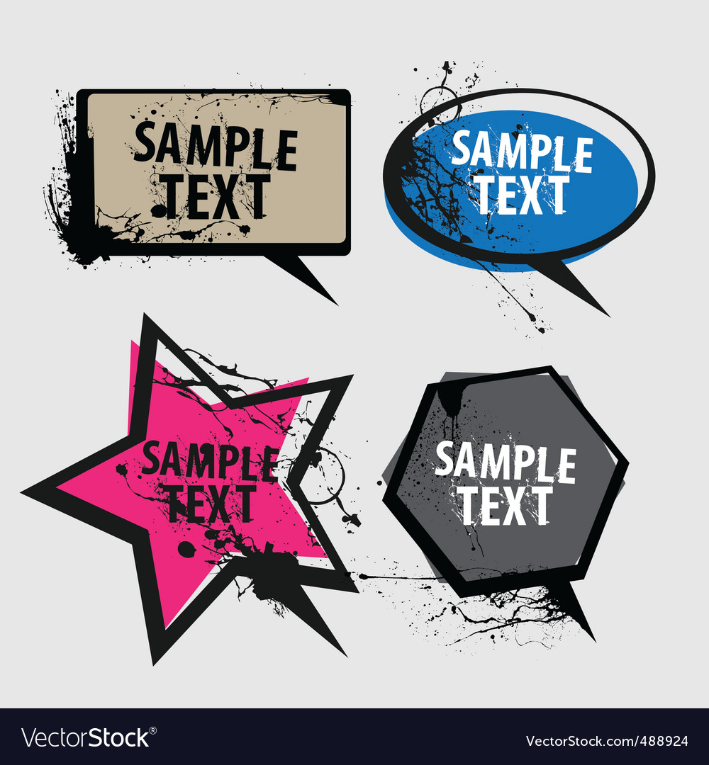 Speech bubbles grunge vector | Price: 1 Credit (USD $1)