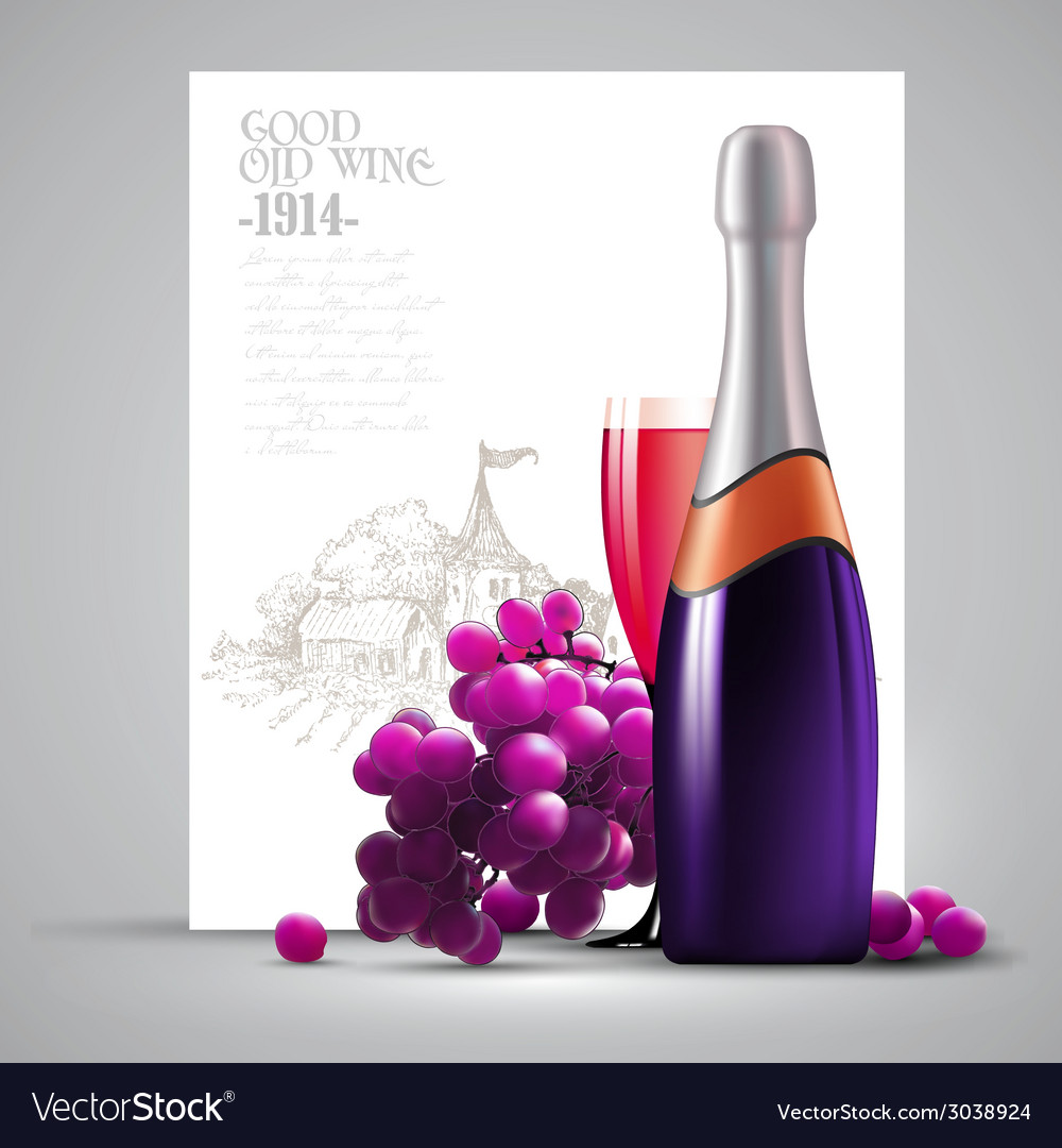 Wine and grapevine vector | Price: 1 Credit (USD $1)