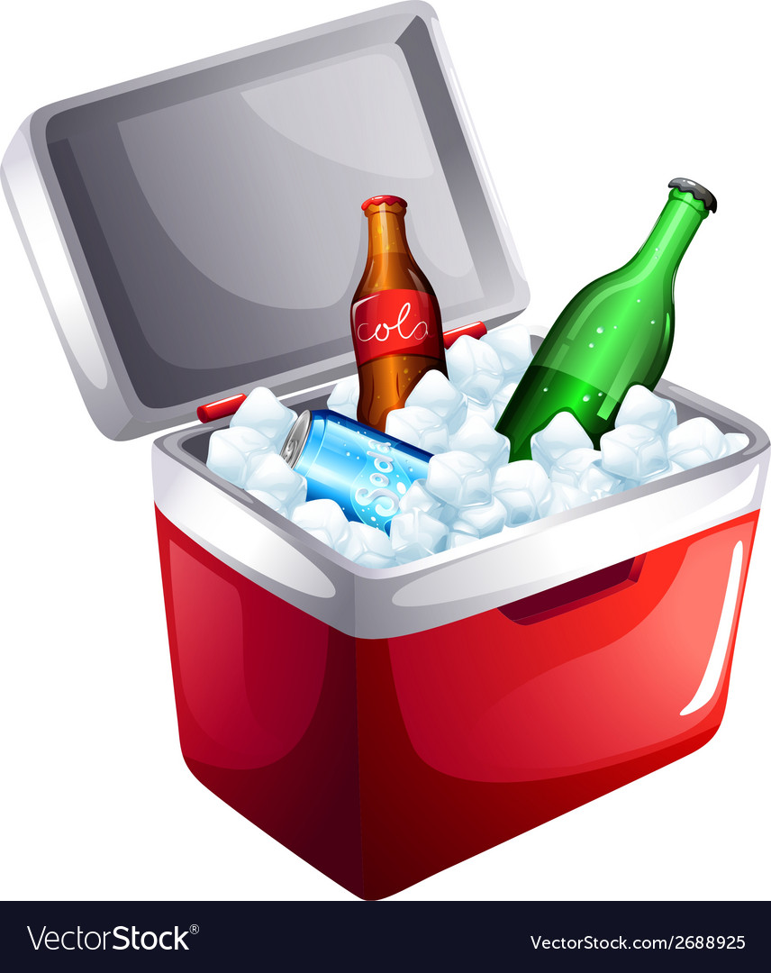 A cooler with softdrinks vector   Price: 1 Credit (USD $1)