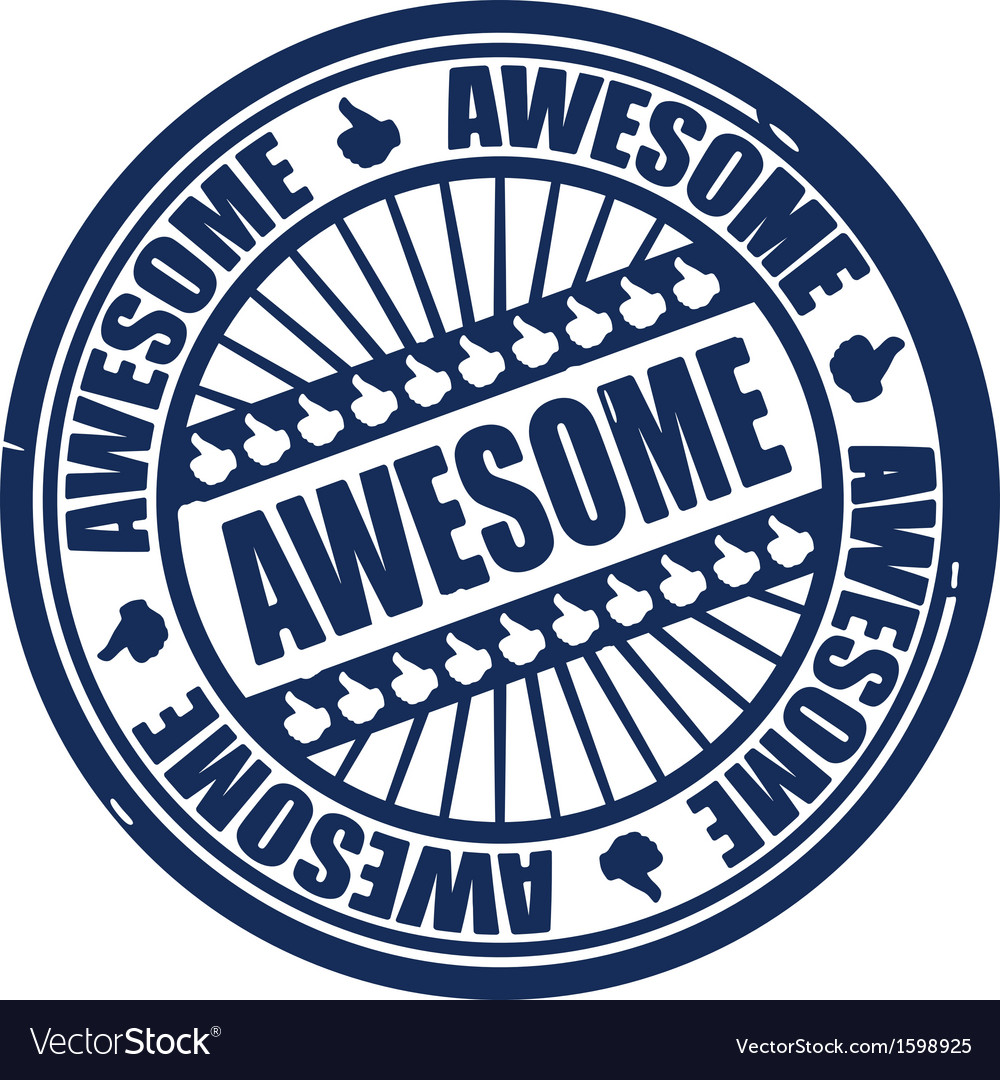 Awesome stamp vector | Price: 1 Credit (USD $1)