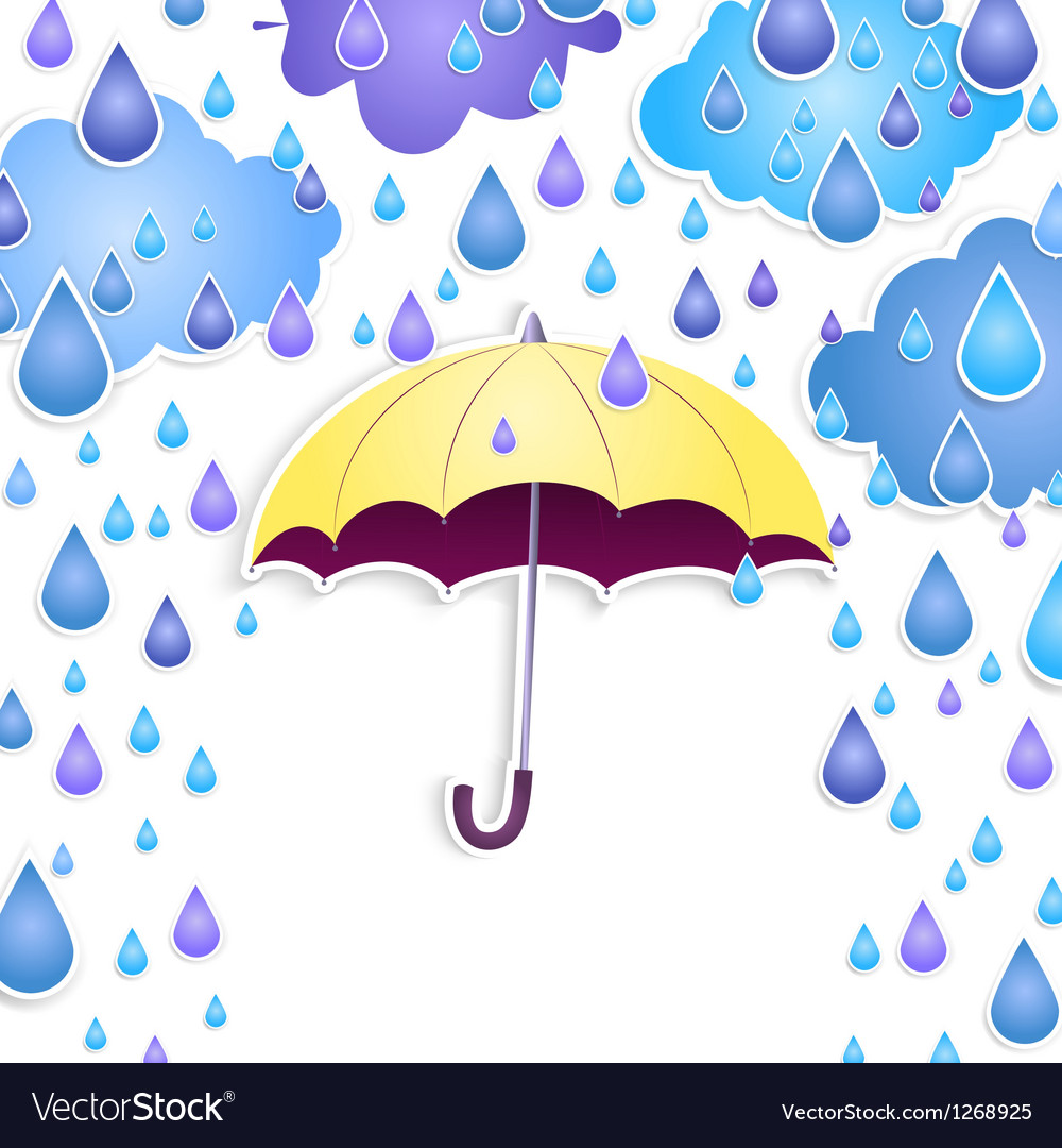 Background with a yellow umbrella vector | Price: 1 Credit (USD $1)
