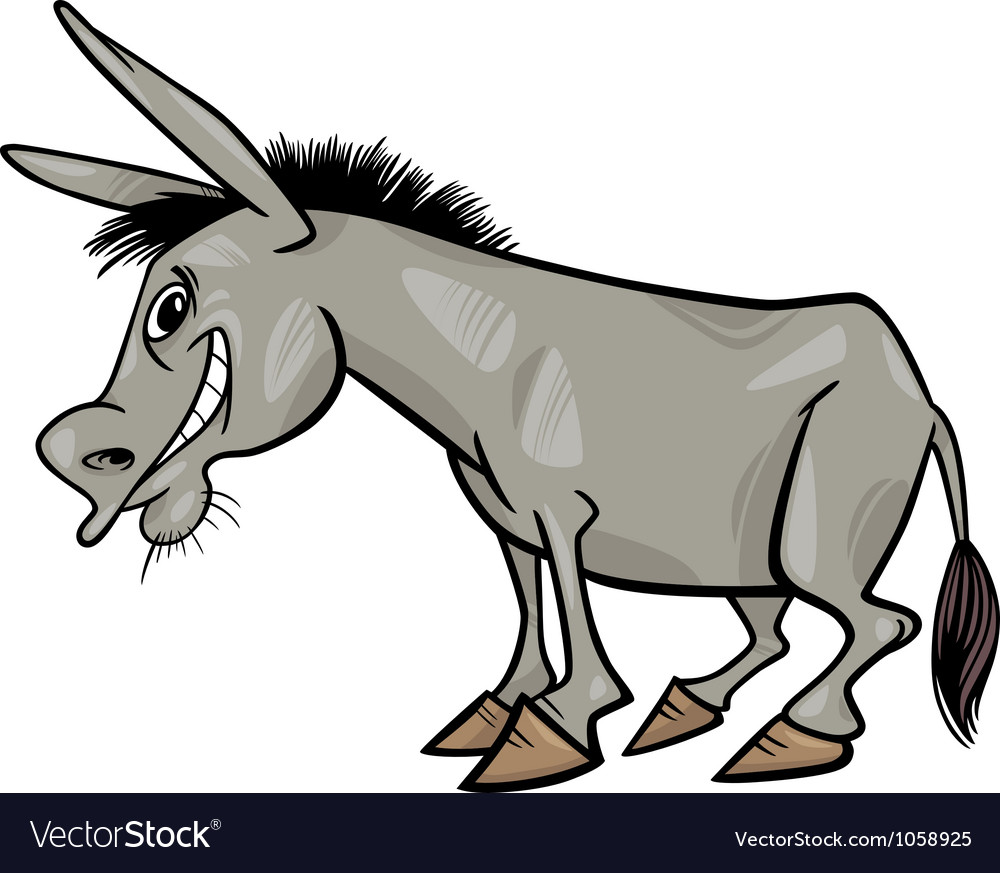 Cartoon donkey vector | Price: 1 Credit (USD $1)