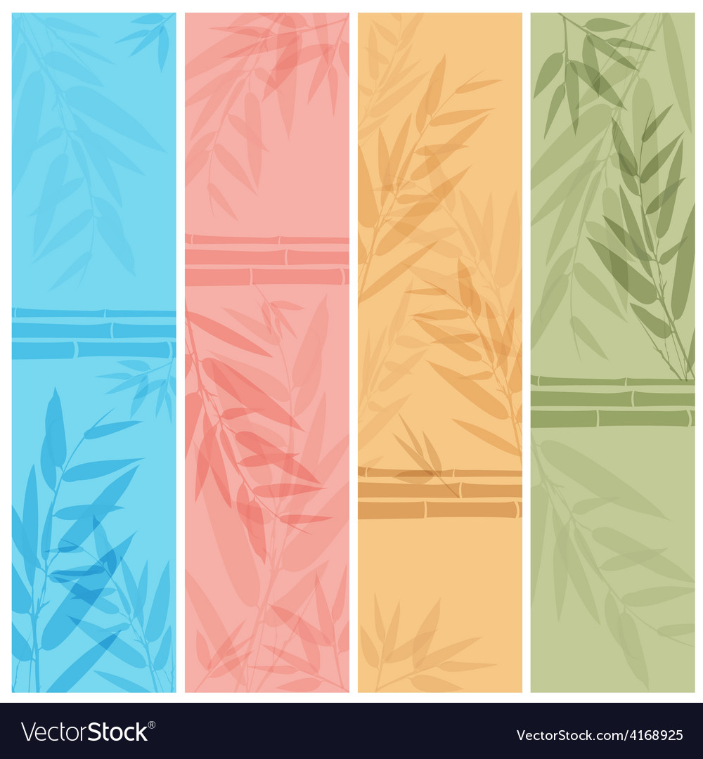 Colorful banners with the tree branches vector | Price: 1 Credit (USD $1)