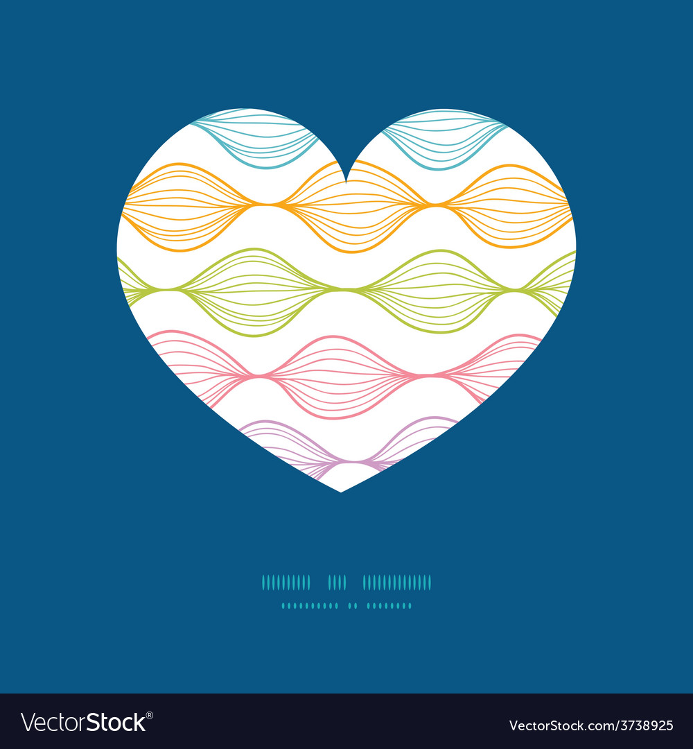Colorful horizontal ogee heart silhouette vector | Price: 1 Credit (USD $1)