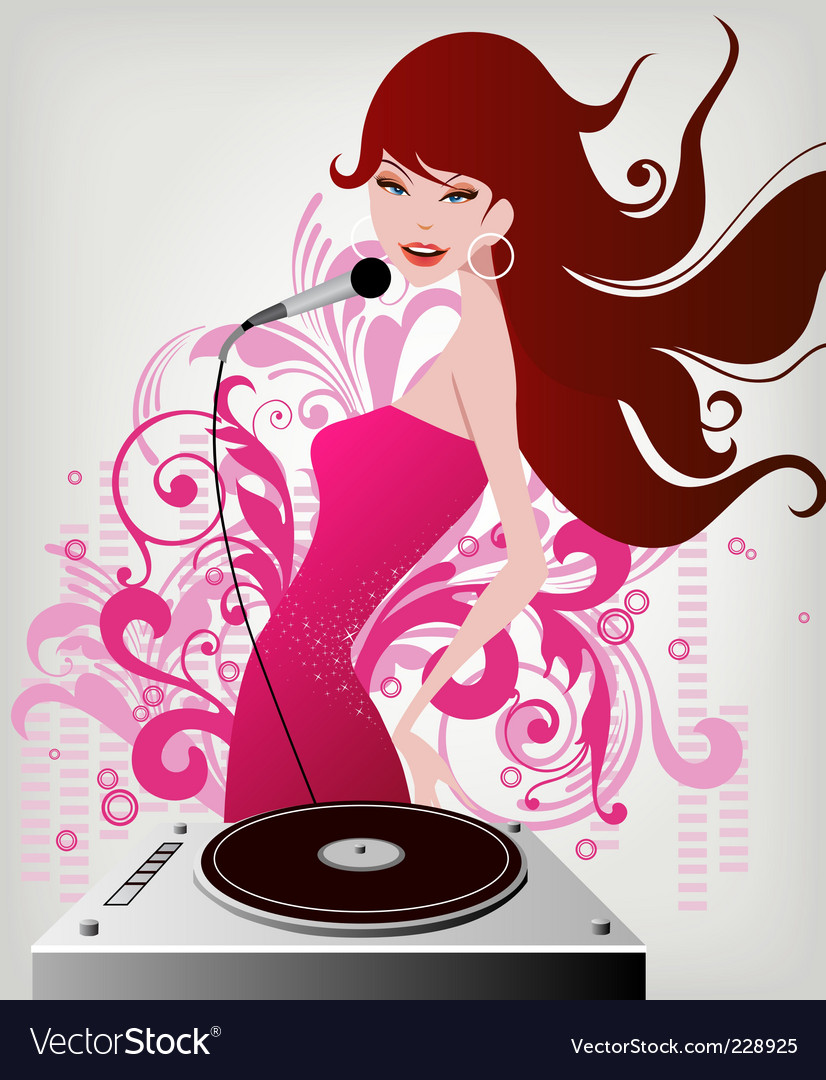 Dj diva vector | Price: 3 Credit (USD $3)