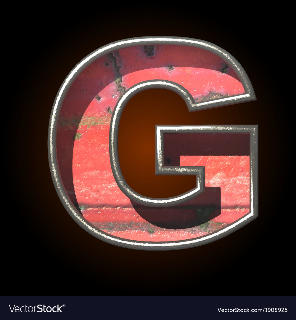 Old metal letter g vector | Price: 1 Credit (USD $1)