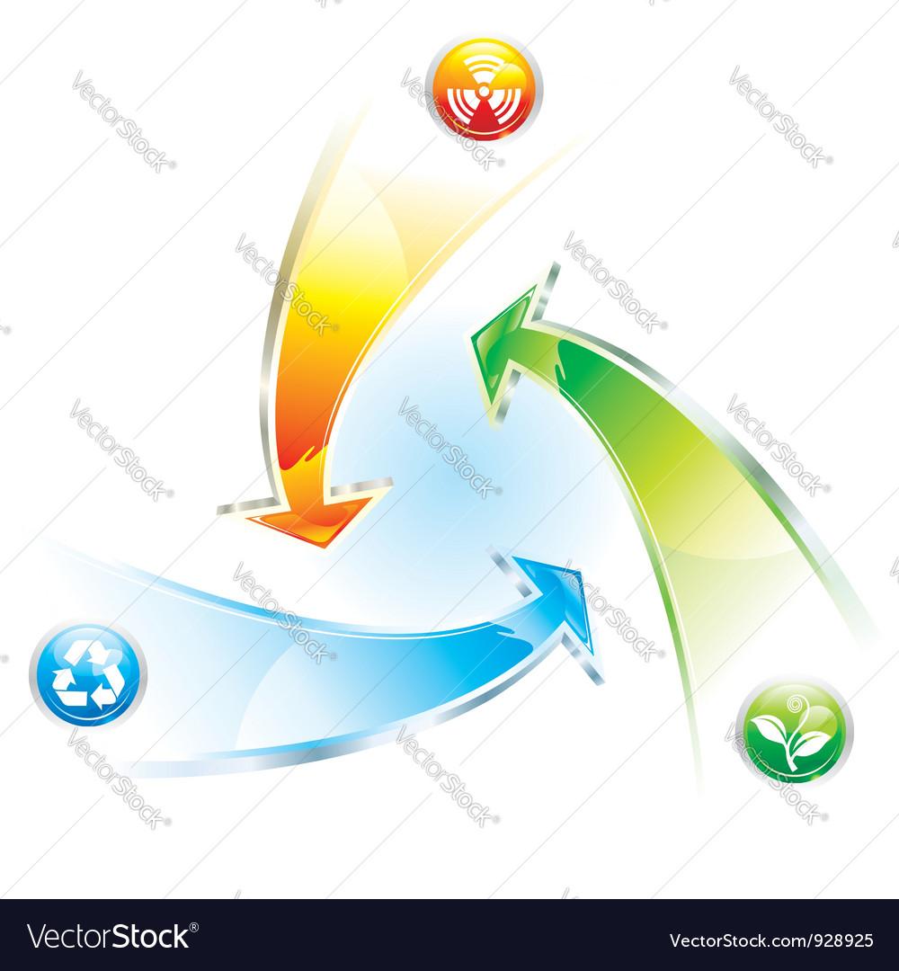 Recycle arrow vector | Price: 1 Credit (USD $1)