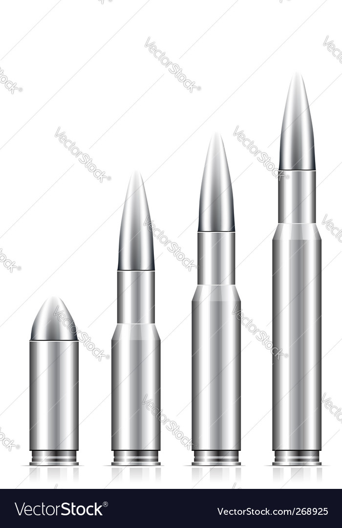 Set of bullets vector | Price: 1 Credit (USD $1)
