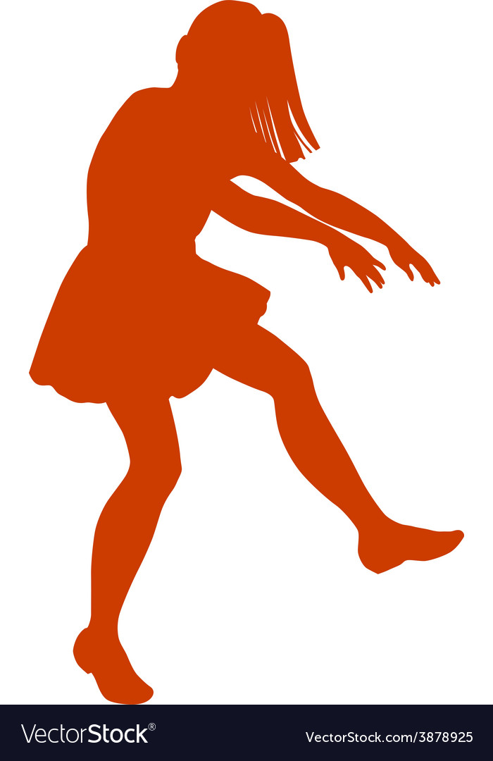Silhouette of little girl vector   Price: 1 Credit (USD $1)