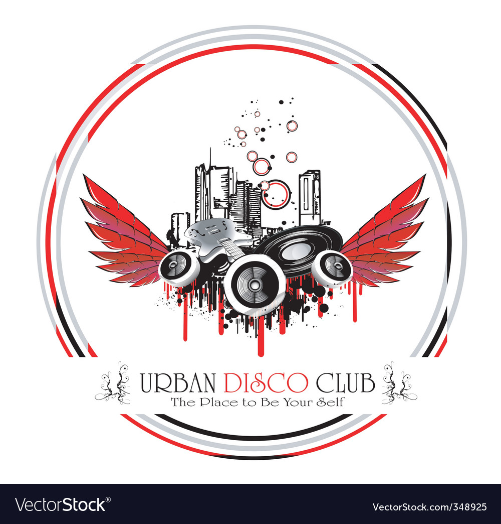 Urban discoteque vector | Price: 1 Credit (USD $1)