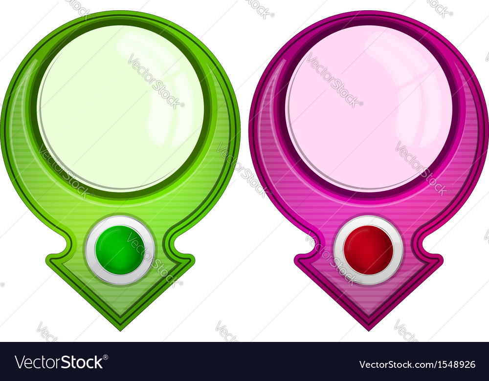 Abstract web banner with round frame vector | Price: 1 Credit (USD $1)