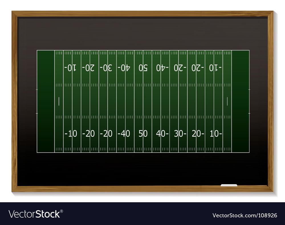 American football blackboard vector | Price: 1 Credit (USD $1)