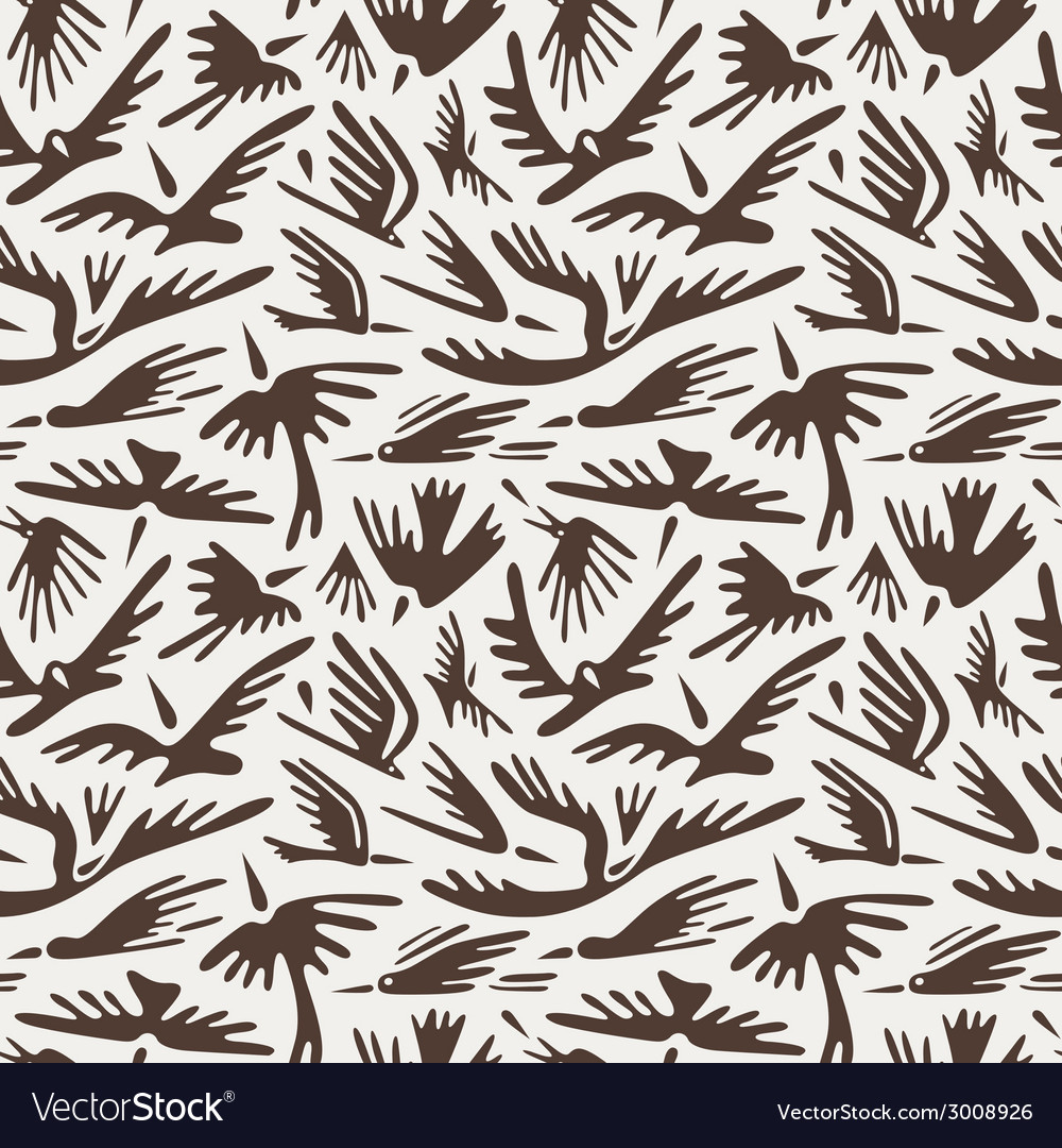 Birds seamless backgounds vector | Price: 1 Credit (USD $1)