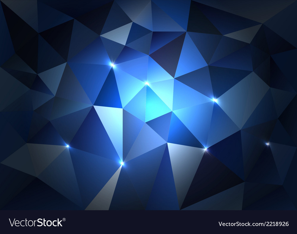 Blue triangles dark vector | Price: 1 Credit (USD $1)