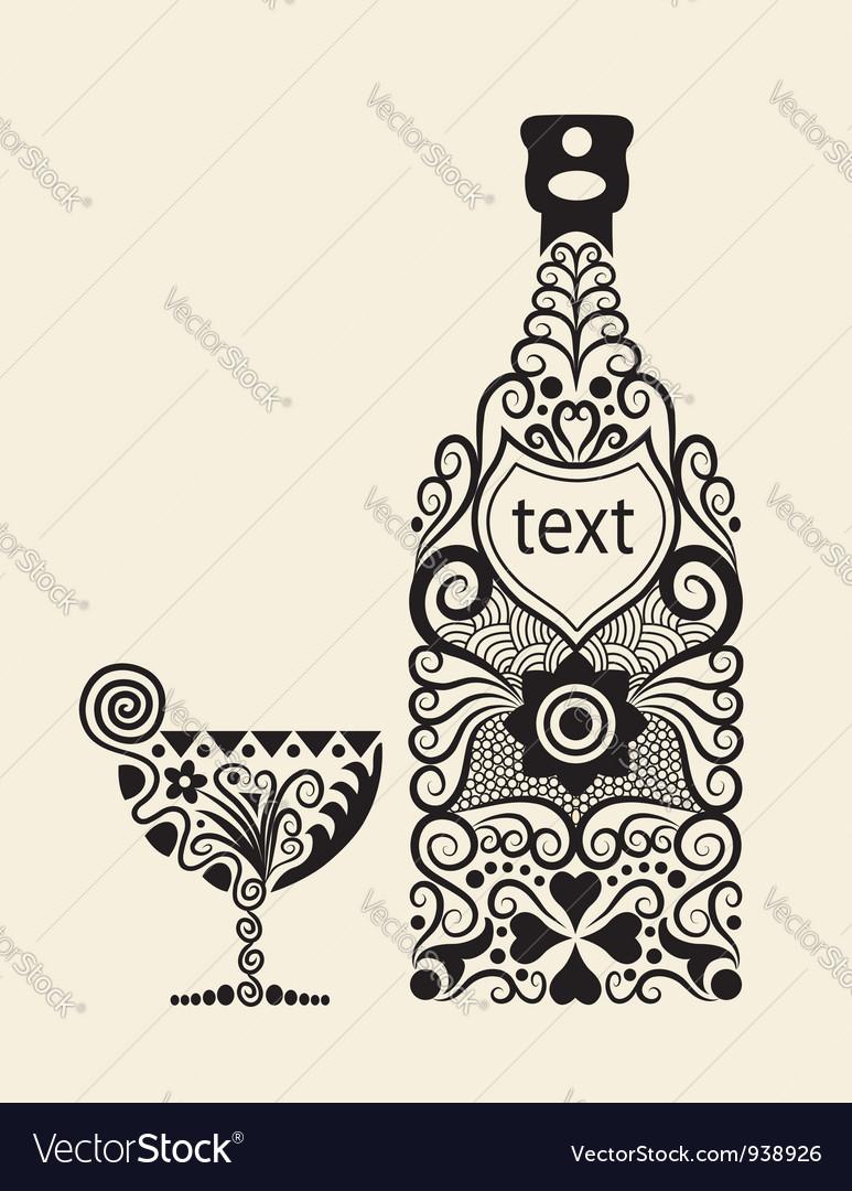 Bottle ornament vector | Price: 1 Credit (USD $1)
