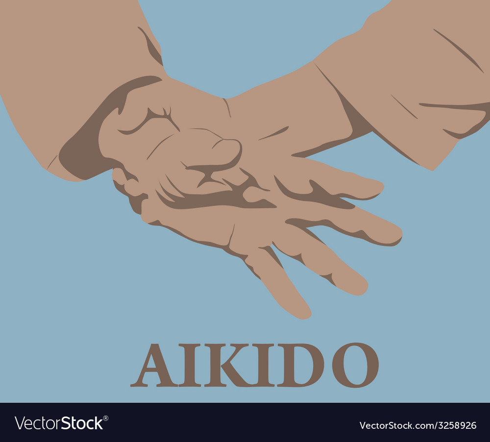 Capture of hands in aikido vector | Price: 1 Credit (USD $1)