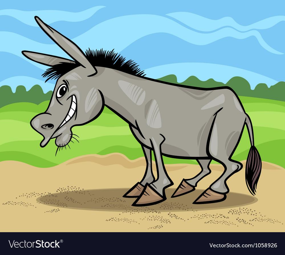 Comic donkey cartoon vector | Price: 1 Credit (USD $1)