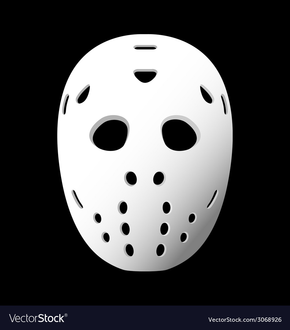 Goalie mask vector
