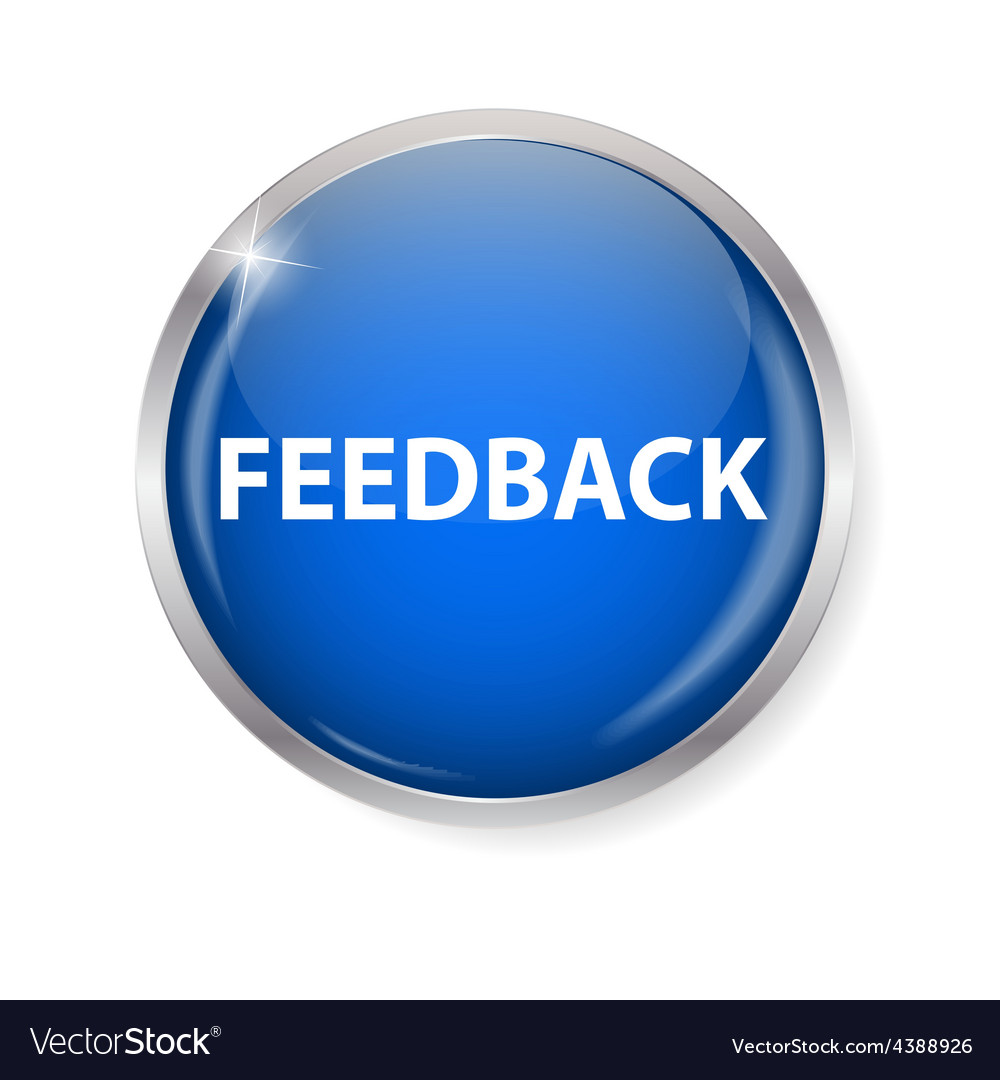 Realistic glossy feedback computer icon button vector