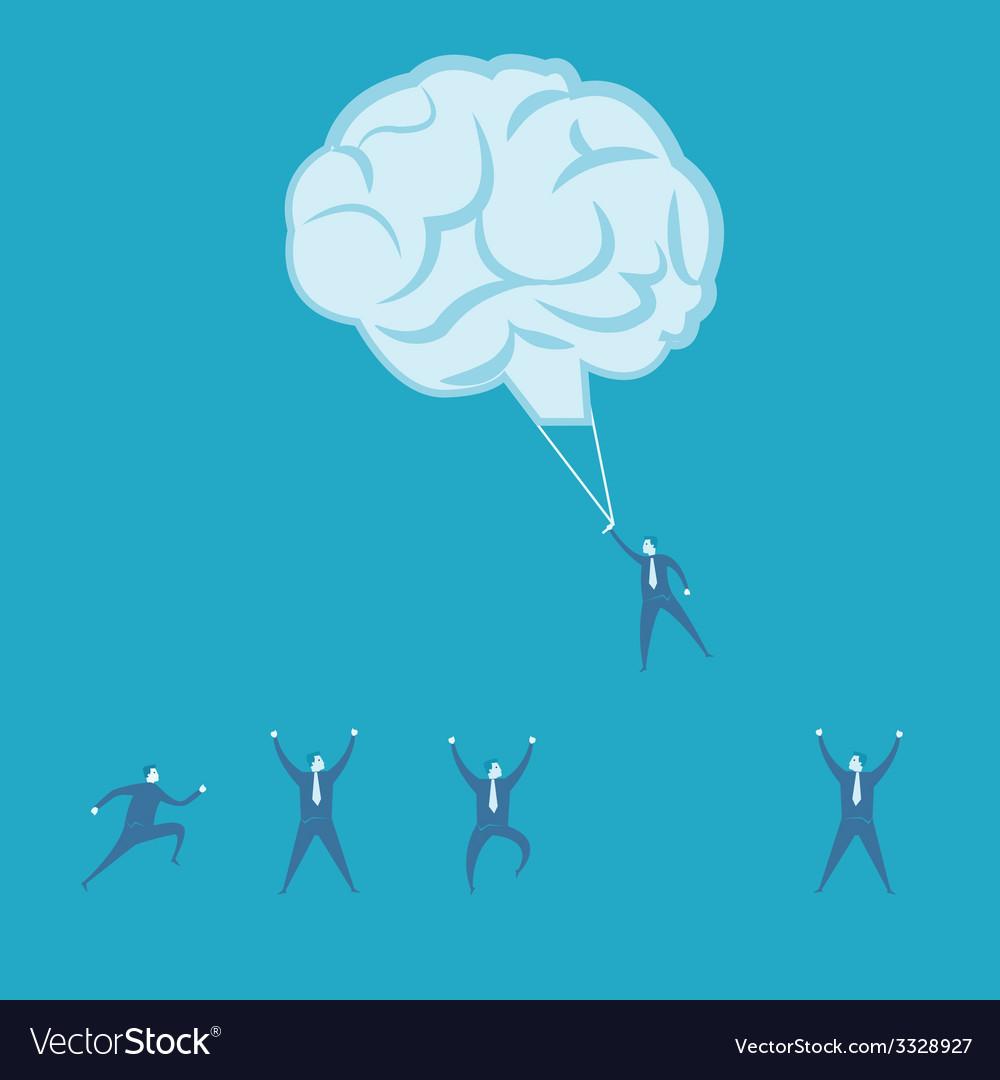 Brainstorm and teamwork idea concept vector | Price: 1 Credit (USD $1)